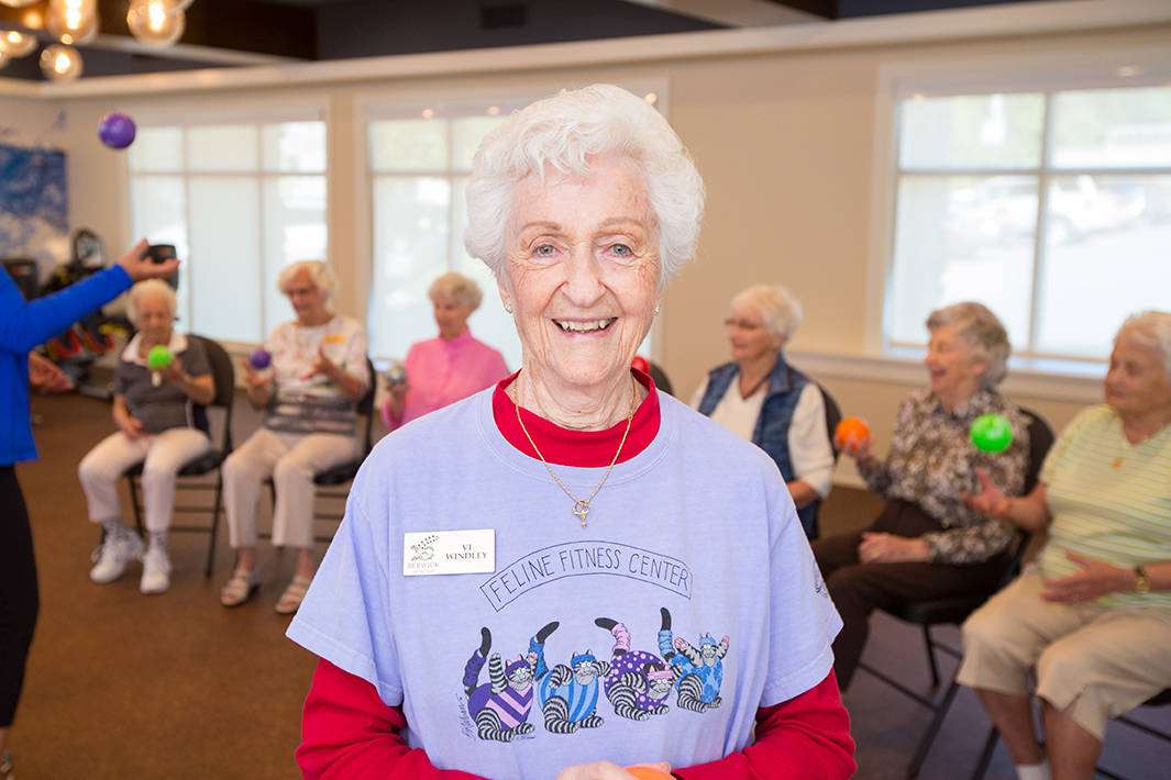Berwick on the Lake offers three levels of care: independent living, enhanced living services and licensed care. That means residents can maintain friendships, even as their care needs change.